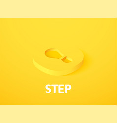 Step isometric icon isolated on color background vector