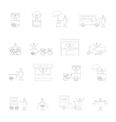 Street Food Icon Outline vector image