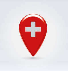 Swiss icon point for map vector image vector image