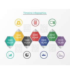 Timeline infographic business template v vector