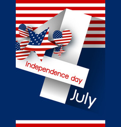 Usa 4 july independence day design vector