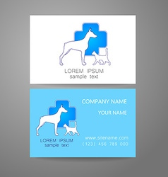 Veterinary medicine logo template vector