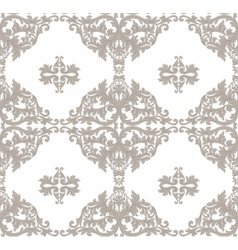 Vintage baroque ornament floral pattern vector