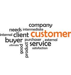 word cloud customer vector image