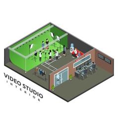Video Studio Interior Isometric View vector image