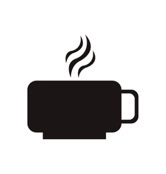 Hot cup icon vector