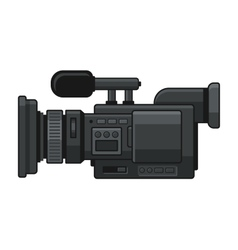Professional Digital Video Camera Recorder Icon vector image