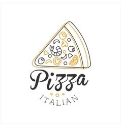 Piece of pizza premium quality italian pizza fast vector