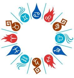 12 signs of the Zodiac circle vector image