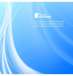 Shining blue flow vector image
