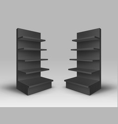 Set of exhibition racks on background vector