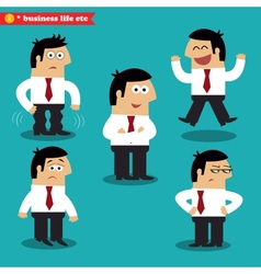 Office emotions in poses vector