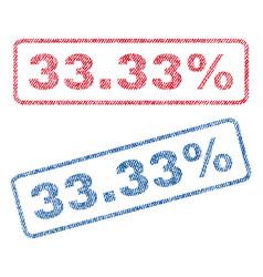 3333 percent textile stamps vector