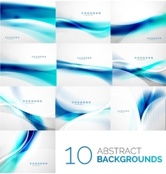 Set of business flowing waves vector