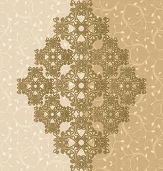 Ornamental greeting card vector
