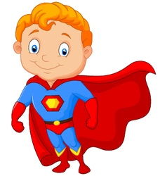 Super hero boy posing vector