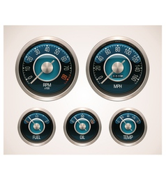 retro car gauges vector image