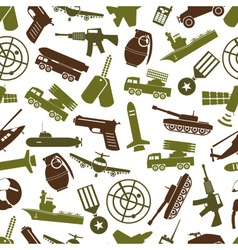 Military theme colors icons seamless pattern eps10 vector