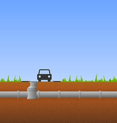 Concrete Pipes vector image