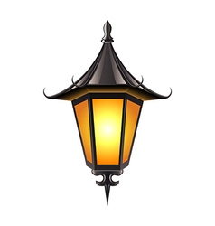 Medieval lamp isolated on white vector