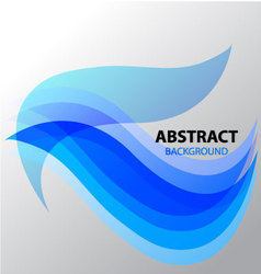 Abstract background line curve wave vector image vector image