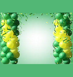 background with party balloons and confetti vector image