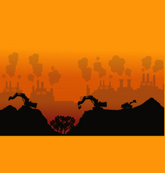 Bad environment silhouette background collection vector