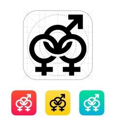 Bisexual icon vector image vector image