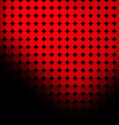Black background with red dots vector