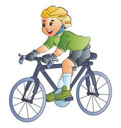 boy riding a bicycle vector image vector image