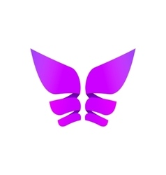 Butterfly colorful logo abstract wings shape in vector image
