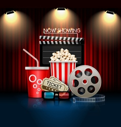 Cinema movie object vector