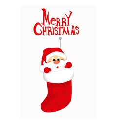 Cute Santa Claus in socks vector image vector image