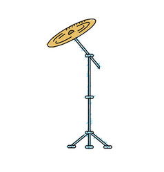 Cymbal musical instrument to play music vector