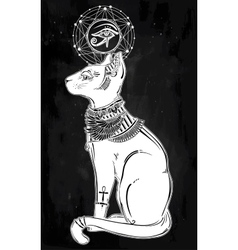 Egyptian cat goddess Bastet vector image vector image