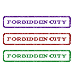 Forbidden city watermark stamp vector