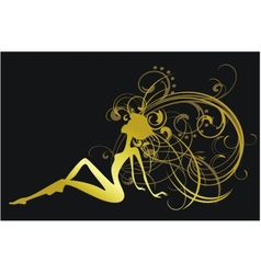 gold girl vector image