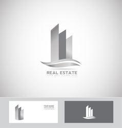 Grey real estate logo icon vector