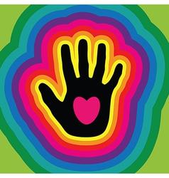 hands love vector image vector image