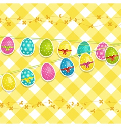 Hanging Easter egg background vector image vector image