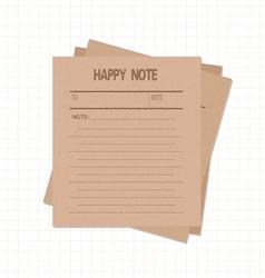 Happy notes retro vector