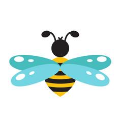 honeybee cartoon icon isolated vector image vector image