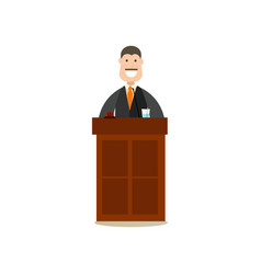 law court people in flat style vector image