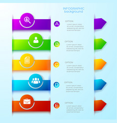 light business infographic template vector image vector image