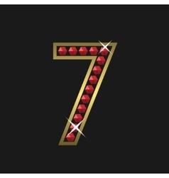 Number seven symbol vector