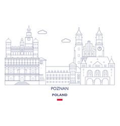 poznan city skyline vector image