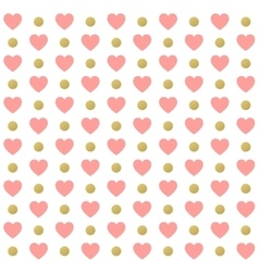 Seamless valentines day polka dot red pattern with vector