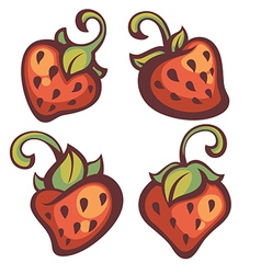 Strawberry collection vector