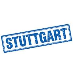 Stuttgart blue square grunge stamp on white vector