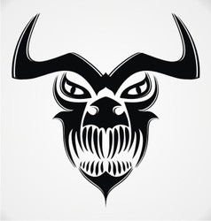 Tribal demon skulls vector